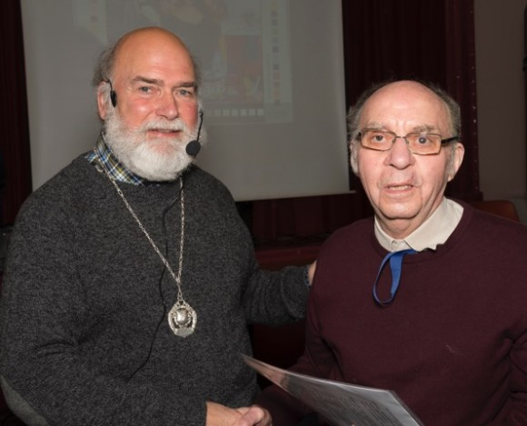 Clifford Derricutt presented with his APAGB by Leo Rich