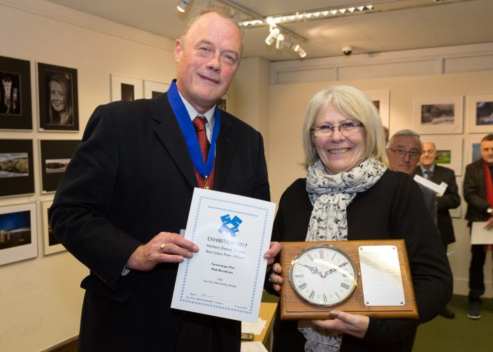 Presentation of Herbert Dennis Trophy for best Colour Print- Madi Brookman-Bognor Regis CC